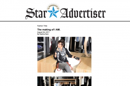 Star Advertiser, The Making of I Am