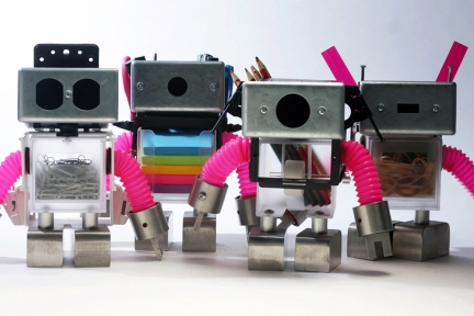 Deskbots 1, 2, 3, 4
